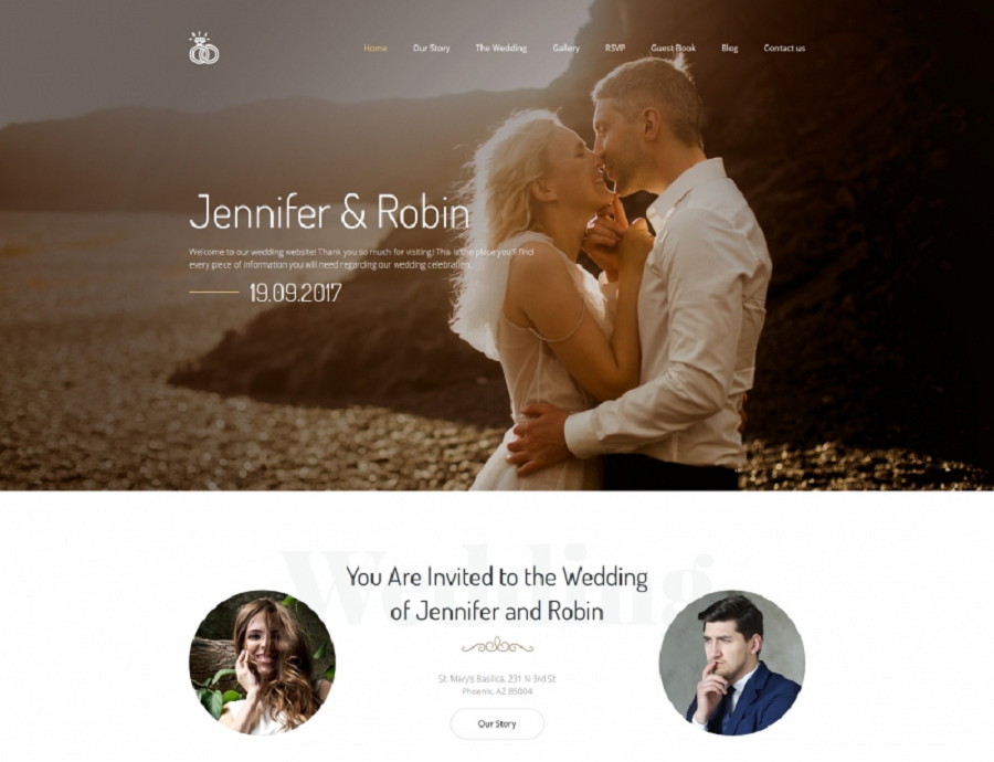 Wedding Premium MotoCMS 3 Template