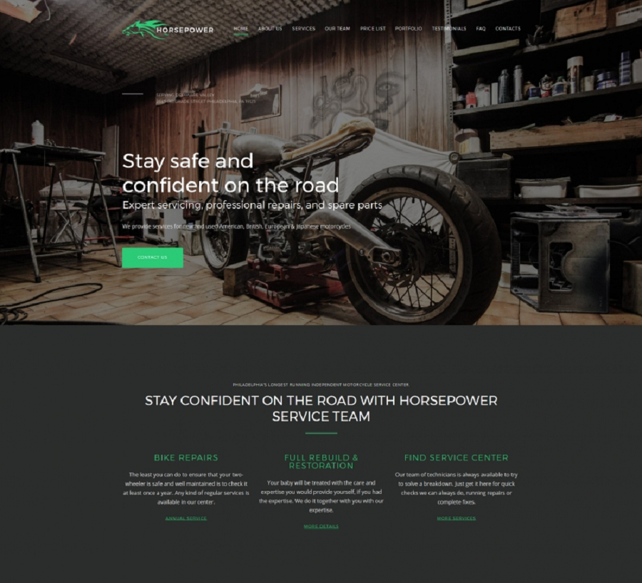 Motorcycle Repairs Premium MotoCMS 3 Template
