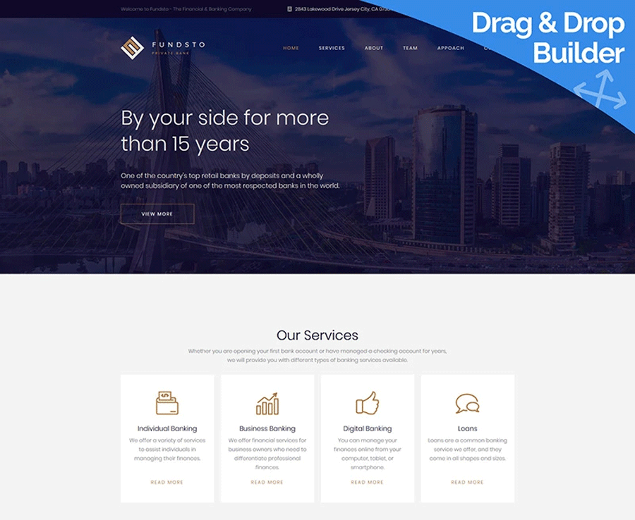Bank Premium MotoCMS 3 Template