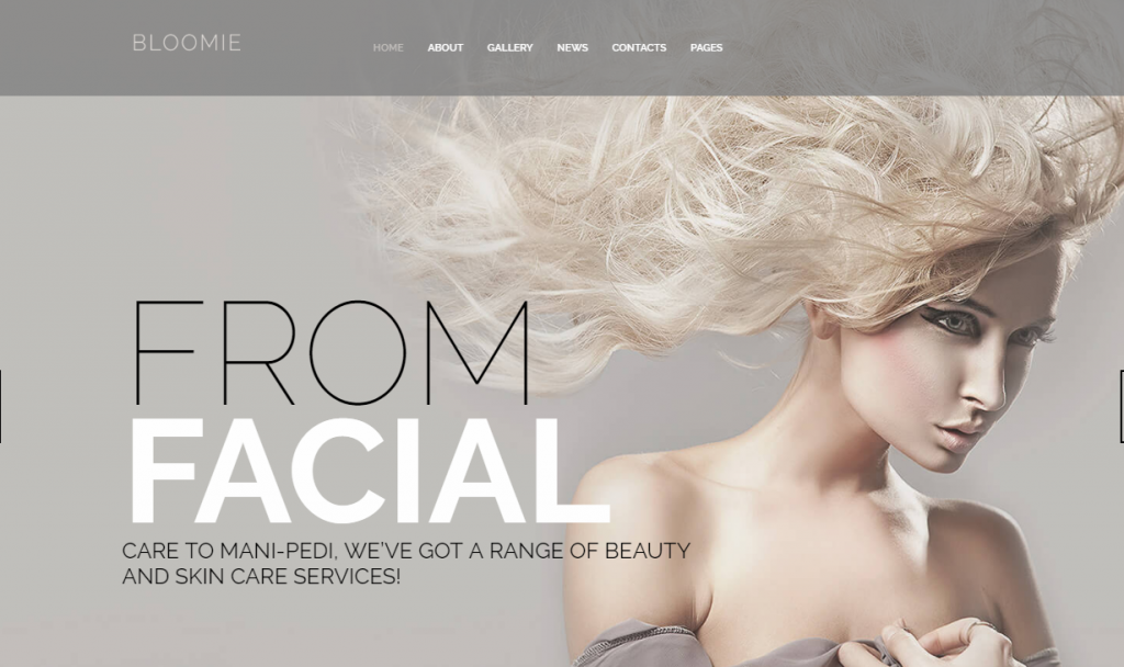 Bloomie - Skin Care & Beauty Services Salon Responsive WordPress Theme
