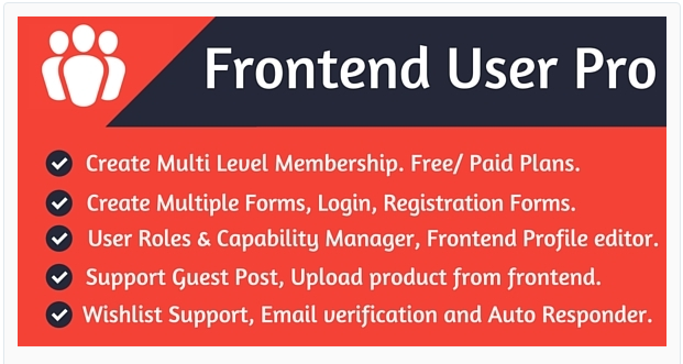 Frontend User Pro WordPress Membership Plugins