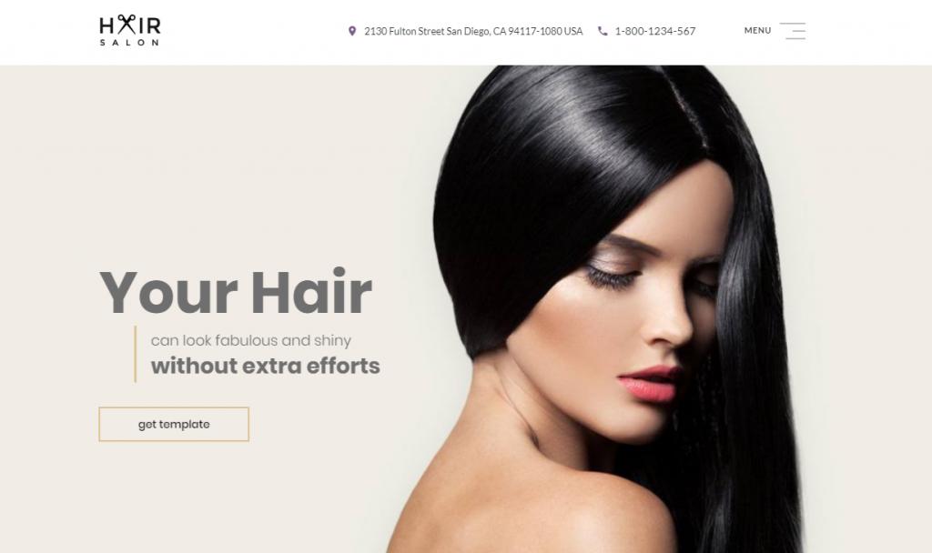 Hair Salon Multipage Website Template: