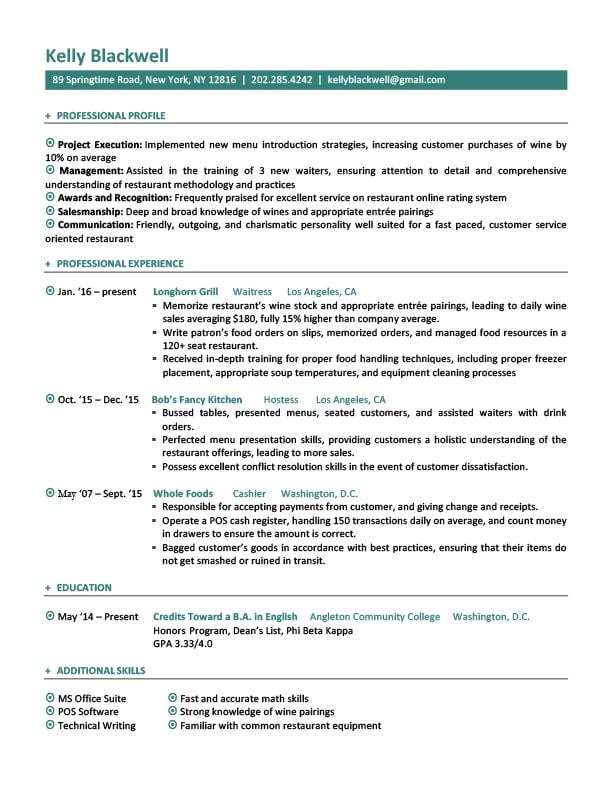 resume templates jobs