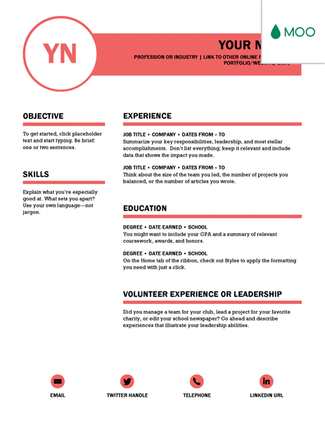 microsoft word cv templates - Ms Word Resume Template