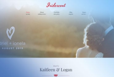 Iridescent Wedding Album Free WordPress Theme