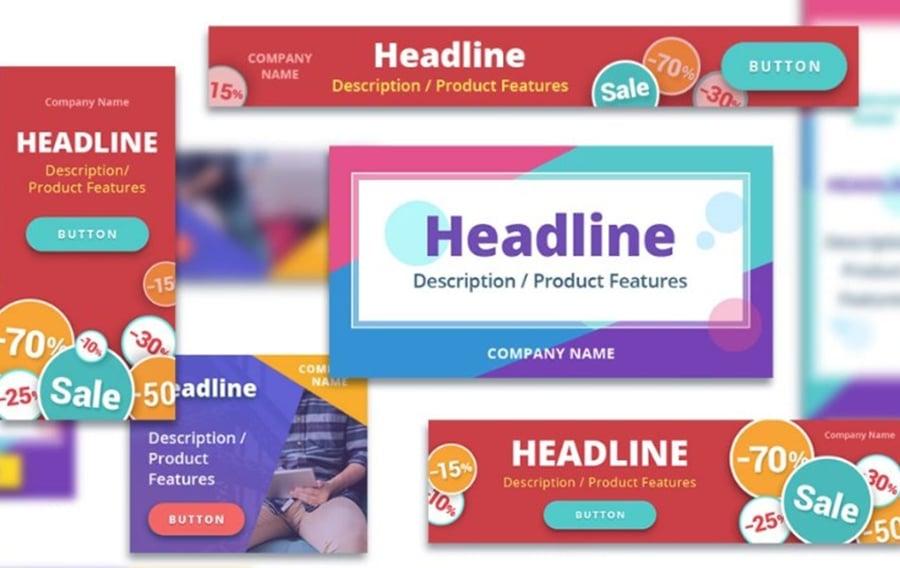 30 PSD Web Banners startup bundle image