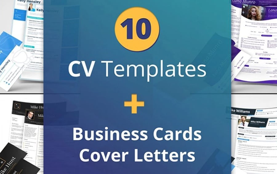 CV and Resume Templates sturtup Bundle image