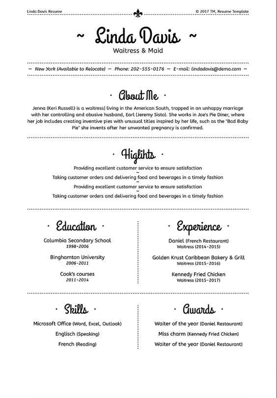 Microsoft Word resume templates