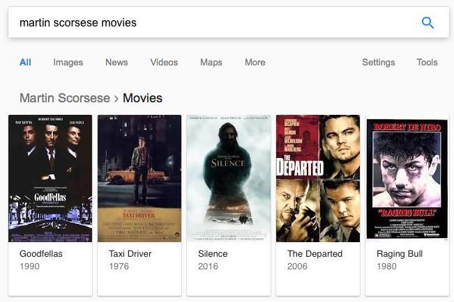 here's what you get when you search for the movies