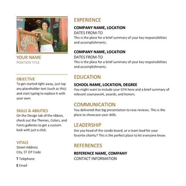 microsoft word on resume