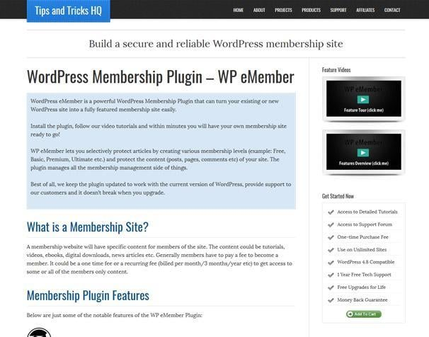 WP eMember WordPress Membership Plugins