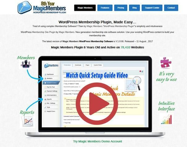 Magic Members WordPress Membership Plugins