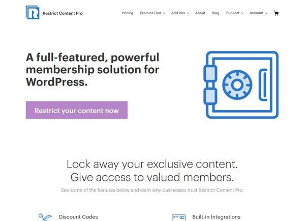 Restrict Content Pro WordPress Membership Plugins