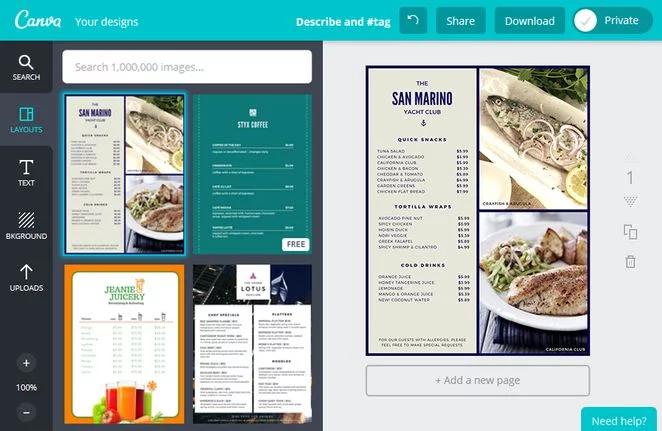 Restaurant Menu Design Software Programs