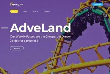 Adveland Amusement Park Free WordPress Theme