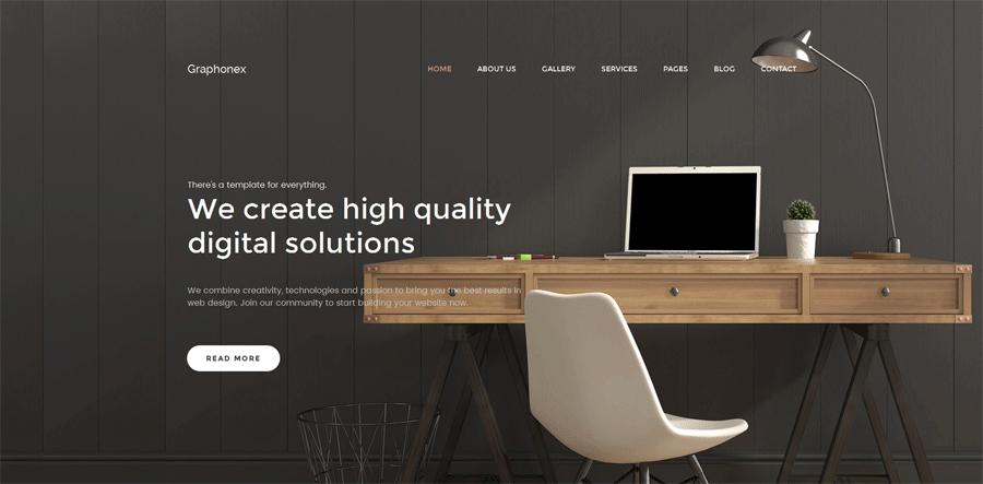 website builder themes