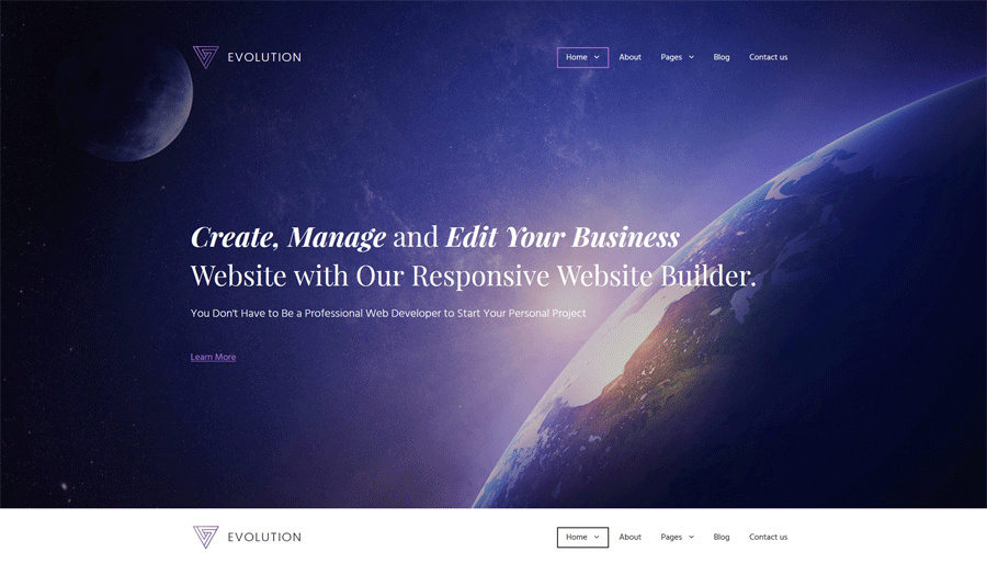 business website builder themes