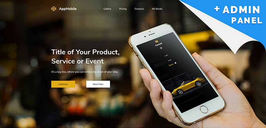 Mobile App Landing Page Template Collection - App landing page template