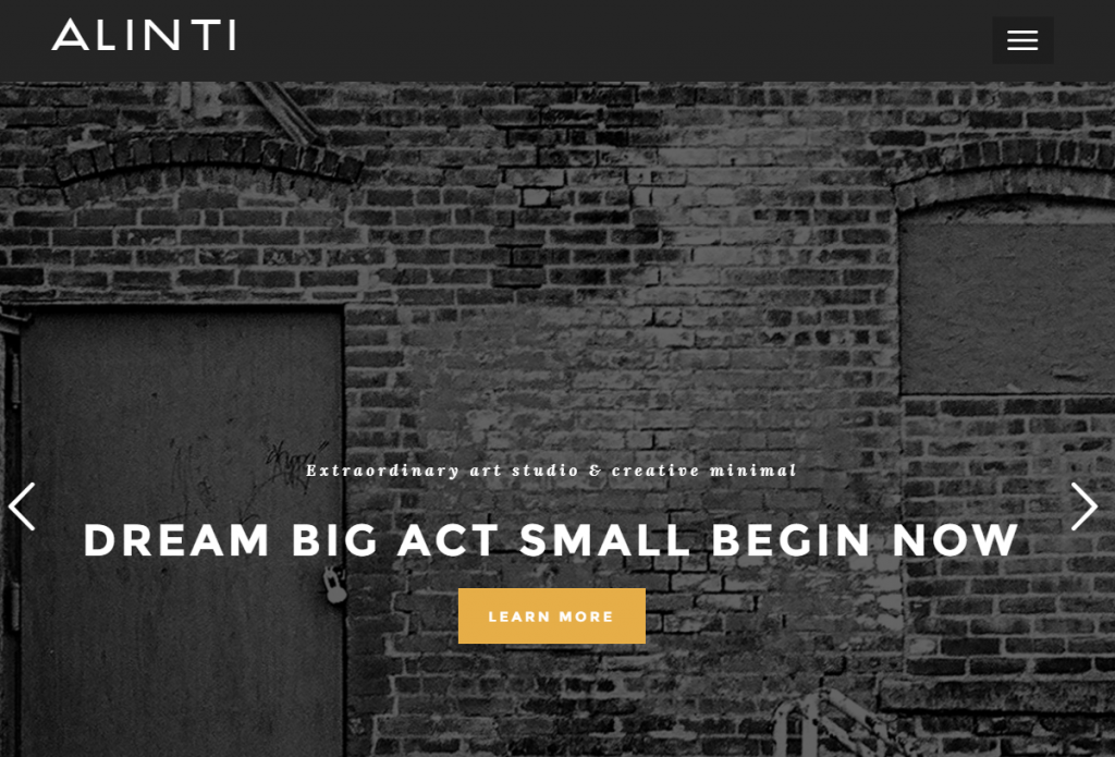 Alinti - Minimal Creative Portfolio WordPress Theme