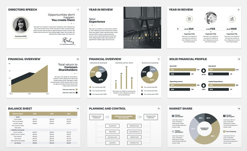 the best annual report presentation templates to admire