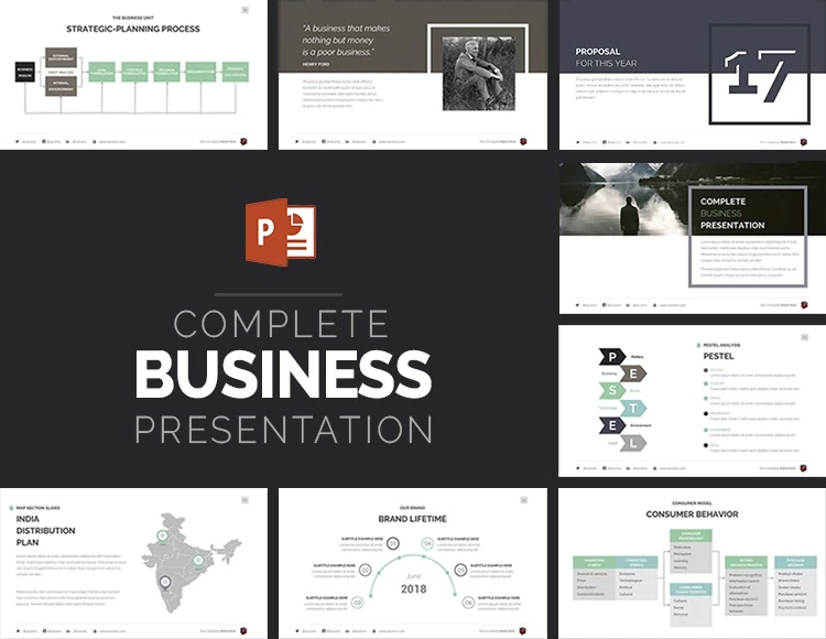 the best annual report presentation templates to admire your boss, Report Presentation Template, Powerpoint templates