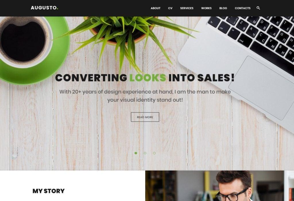 Augusto - Freelance Designer & Web Design WordPress Theme