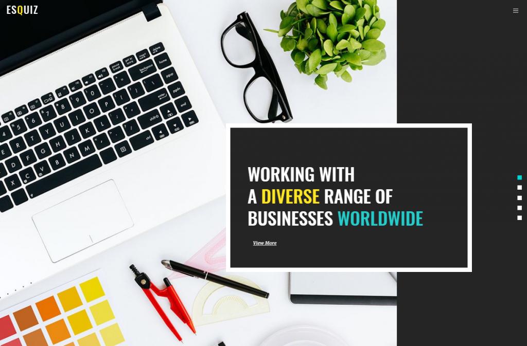 Esquiz - Design Studio WordPress Theme