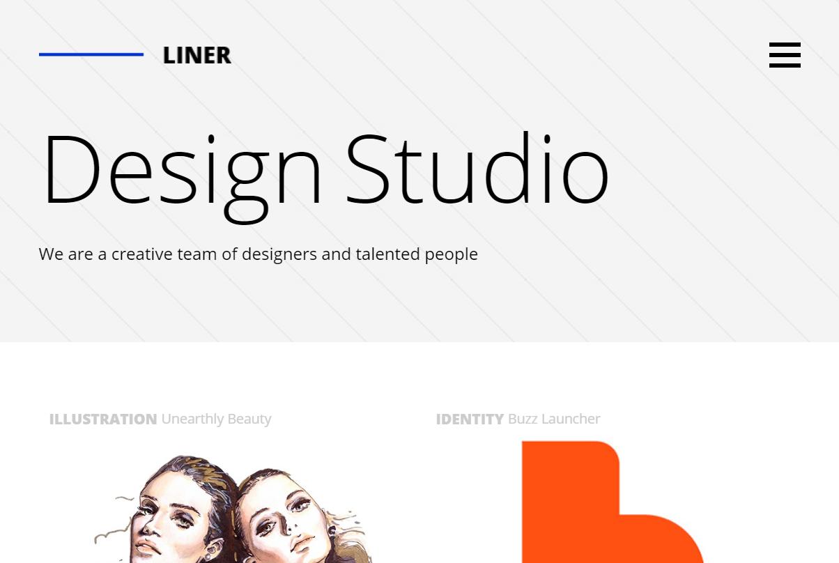 Liner - Creative Clean Portfolio WordPress Theme