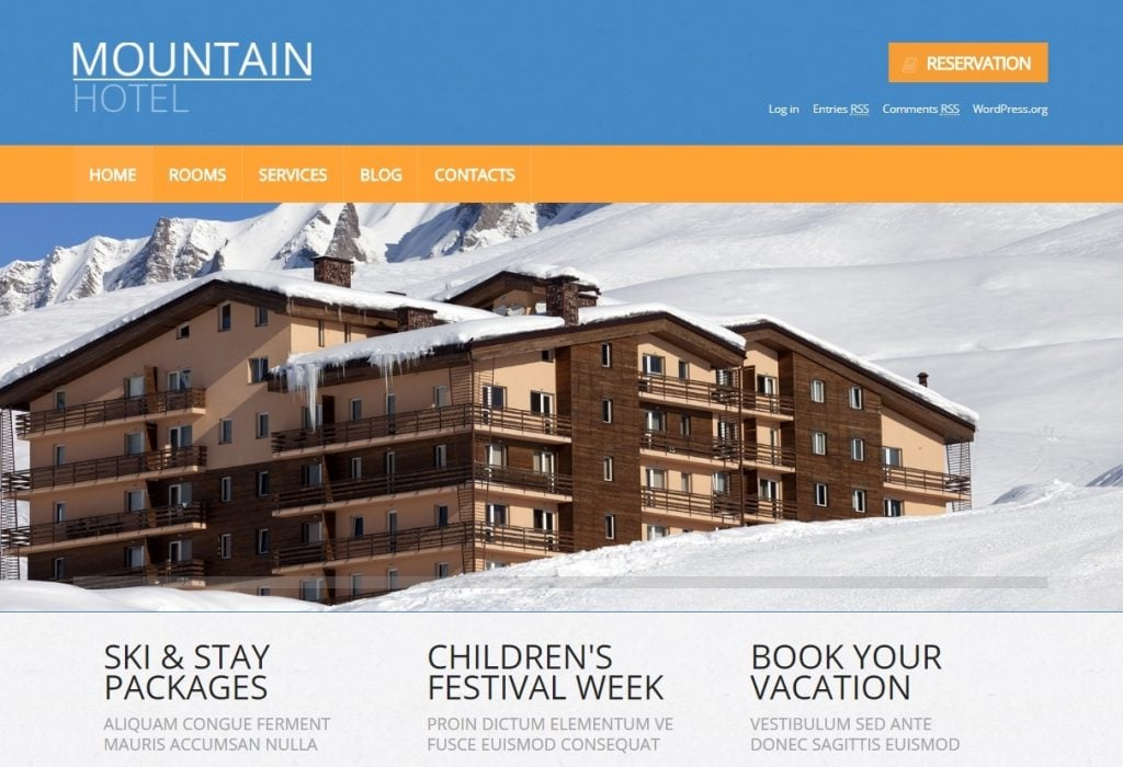Motel Responsive WordPress Theme
