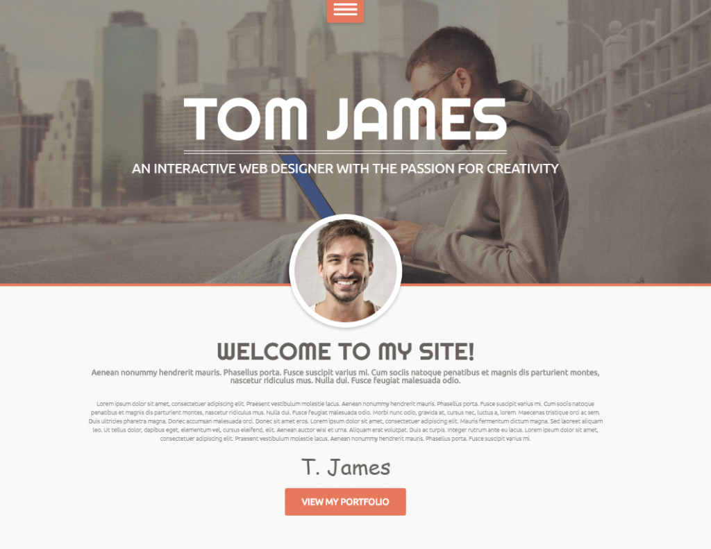 Wonderful Wordpress Resume Template Nulled Pictures Inspiration ...