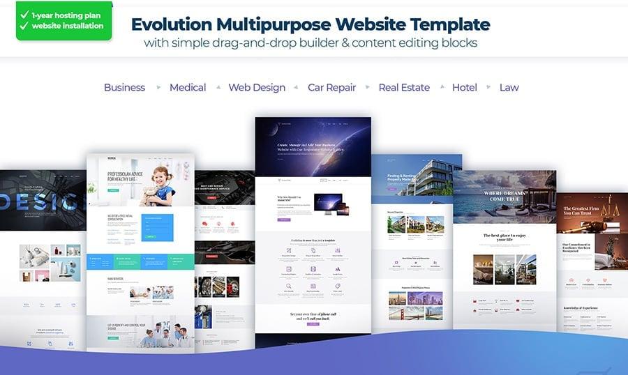 MotoCMS Startup Bundle evolution image