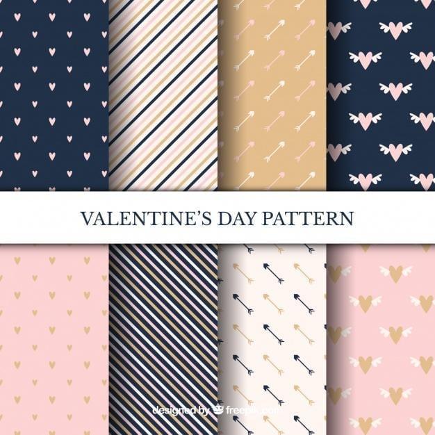 Elegant valentine pattern set