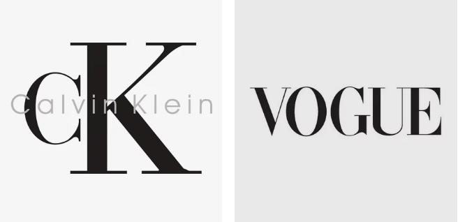 Premium fonty w logo fashion marek