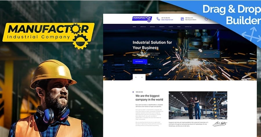ManuFactor - Multipurpose Industrial and Manufacturing Moto CMS 3