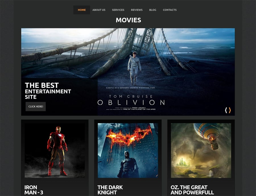 WordPress movie templates