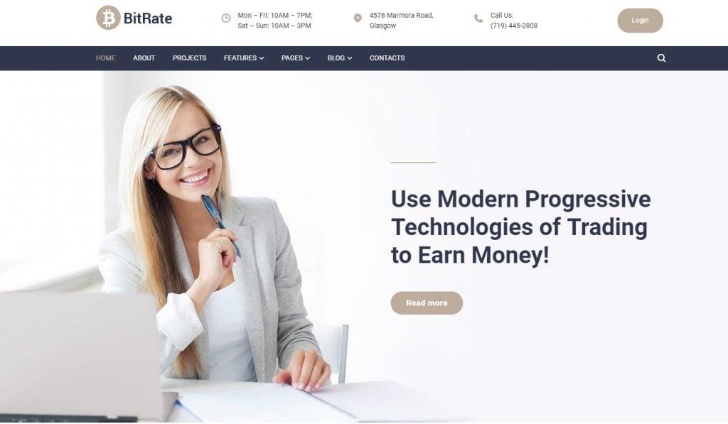 BitRate - Bitcoin WordPress Theme