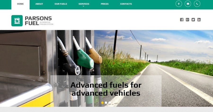 Gas & Oil Responsive Moto CMS 3 Template