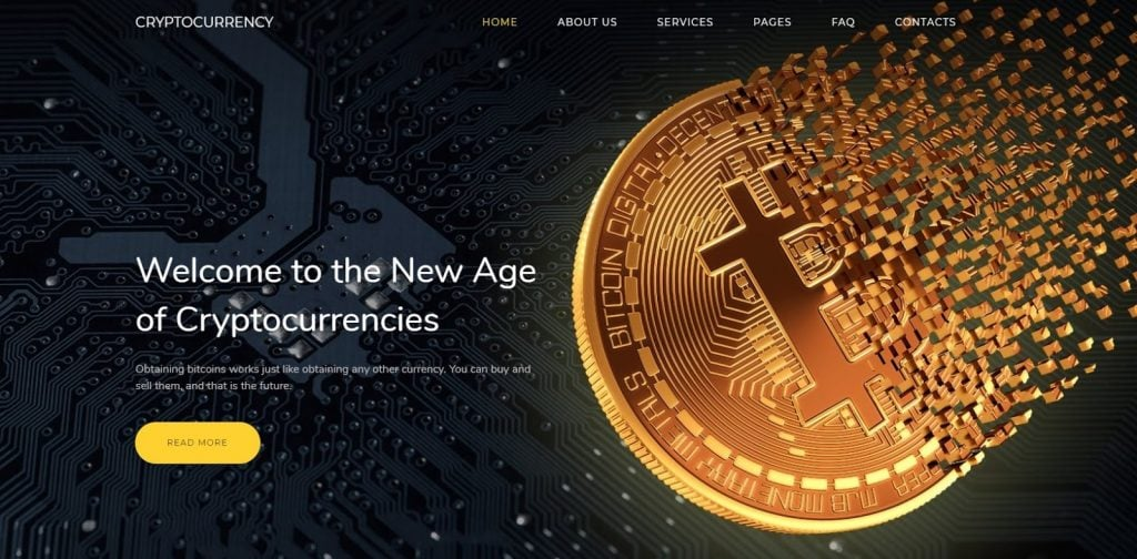 best cryptocurrency templates