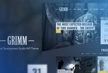 Grimm Lite Game Development Studio Free WordPress Theme