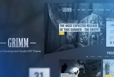 Grimm Lite Game Development Studio Free WordPress Theme