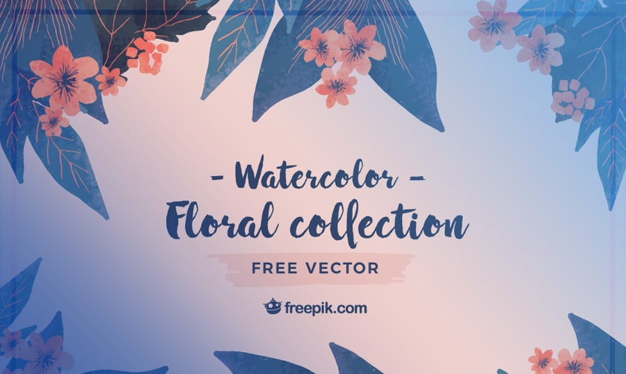 Bring Spring To Life With These Watercolor Flower Vectors