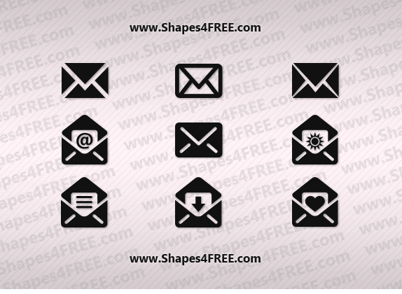 Email (Envelope) Photoshop Custom Shapes