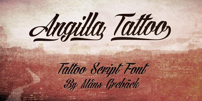 Angilla Tattoo by Måns Grebäck