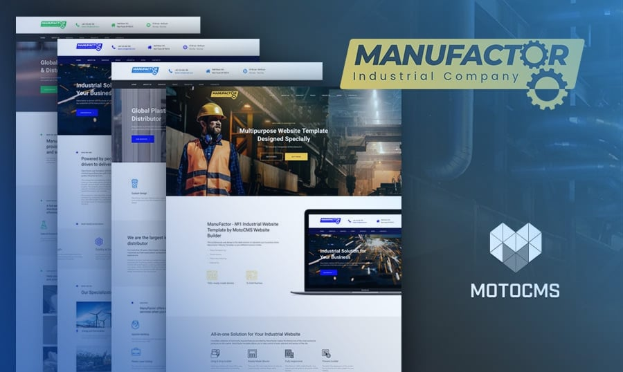 industrial website templates top 10 designs for factories and craft