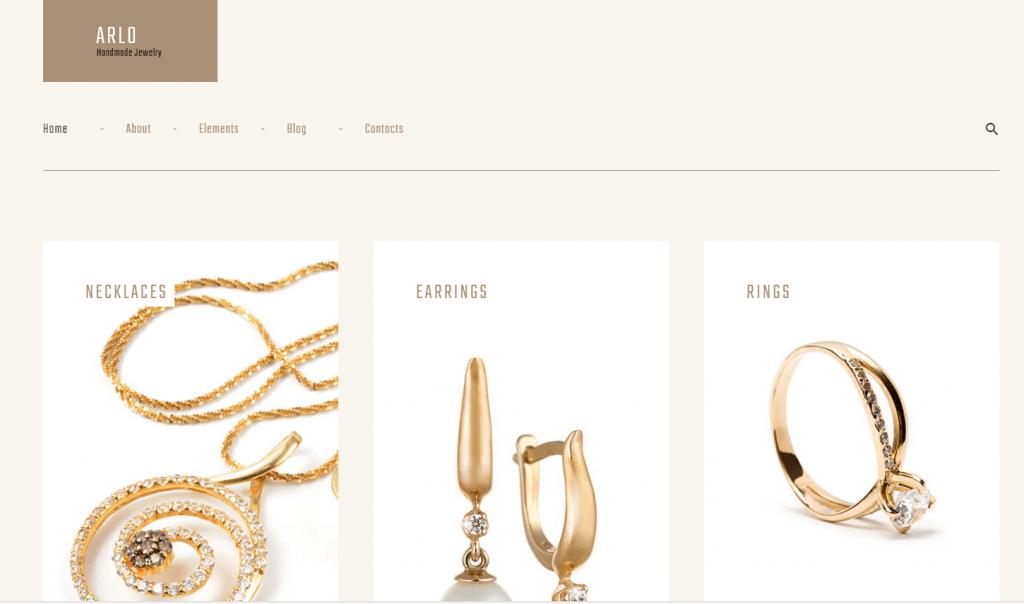 Arlo - Handmade Jewelry Artist Portfolio WordPress Theme