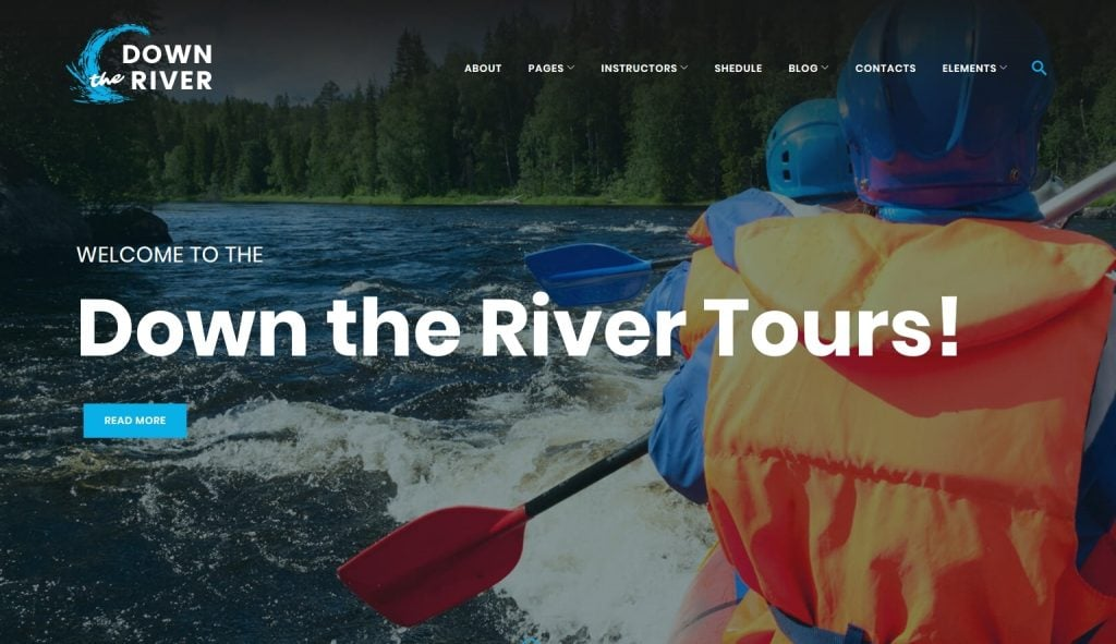 Down River - Rafting & Kayaking WordPress Theme