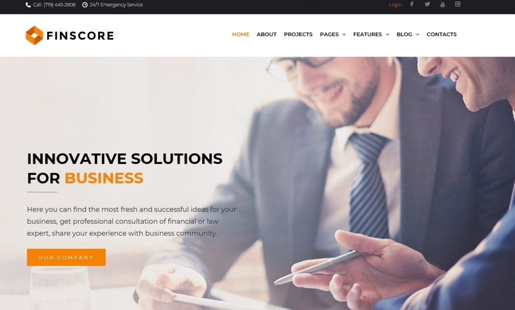 Finscore - Consulting Responsive WordPress Theme