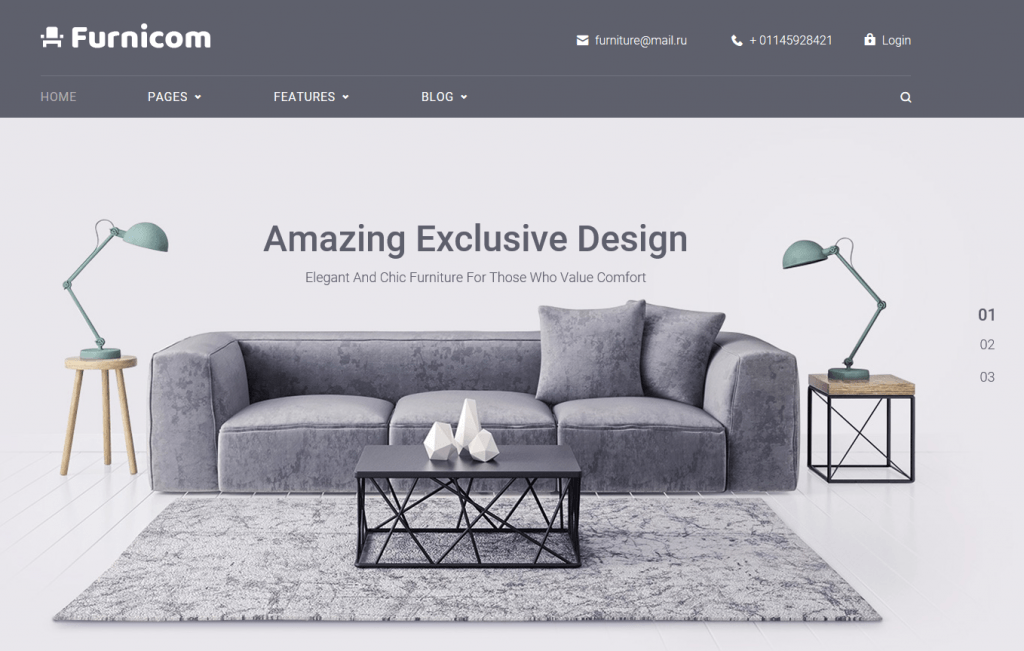 Furnicom   Furniture Store WordPress Theme