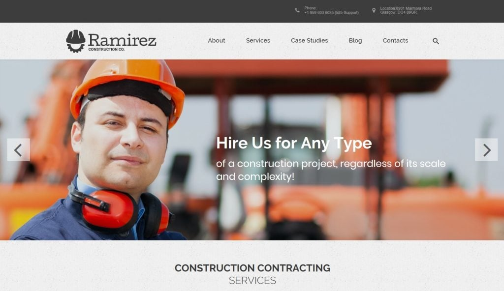Ramirez - Architecture & Construction Company WordPress Theme