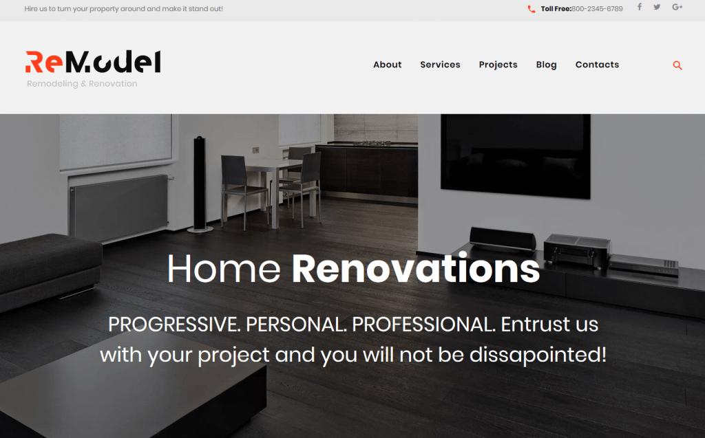 Superior Remodel   Renovation U0026 Interior Design WordPress Theme